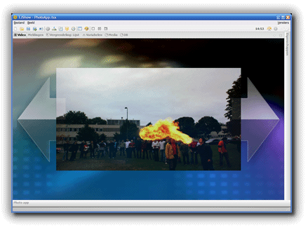 TJShow 3D video engine user interface